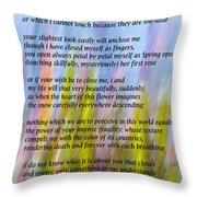The Power Of Love Vignette Throw Pillow