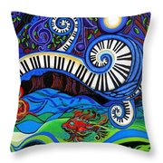 The Power Of Music Throw Pillow