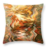 Gray And Orange Peaceful Abstract Art Throw Pillow
