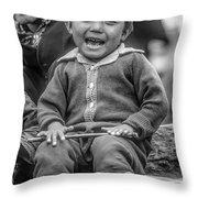 The Power Of Smiles Bw Throw Pillow