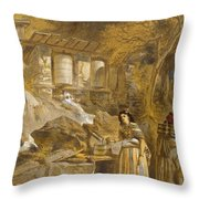 The Praying Cylinders Of Thibet Throw Pillow
