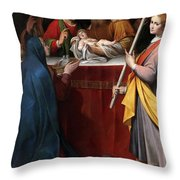 The Presentation In The Temple Throw Pillow