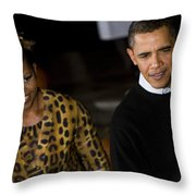 The President And First Lady Throw Pillow