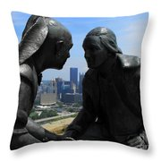 The President And The Chief Throw Pillow