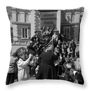 The Priest As Photographer Throw Pillow