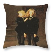 The Princes Edward And Richard Throw Pillow by Sir John Everett Millais