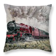 The Princess Elizabeth Storms North In All Weathers Throw Pillow