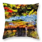 The Private Little Pond Throw Pillow
