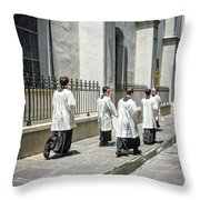 The Procession Nola - Color Throw Pillow