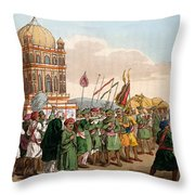 The Procession Of The Taziya, From The Throw Pillow