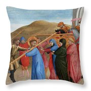 The Procession To Calvary Throw Pillow