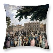 The Promenade In St James Park, C.1796 Throw Pillow