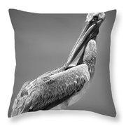 The Proper Pelican Throw Pillow