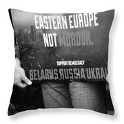 The Protest E Throw Pillow