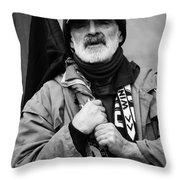 The Protester Throw Pillow