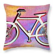 The Psychedelic Bicycle Throw Pillow