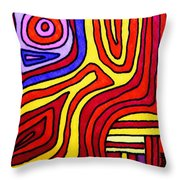 The Psychedelic Musings Of A Squid Throw Pillow