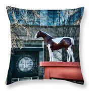 The Public Library 1955 Throw Pillow