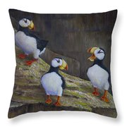 The Puffin Report Throw Pillow