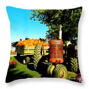 The Pumpkins Have Arrived Throw Pillow