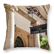 The Pump Room Throw Pillow