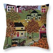 The Pumpkin Barn Throw Pillow