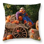 The Pumpkin Farmer Throw Pillow