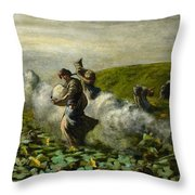 The Pumpkin Harvest Throw Pillow