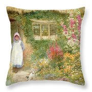 The Puppy Throw Pillow by Arthur Claude Strachan