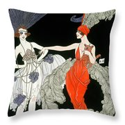 The Purchase  Throw Pillow by Georges Barbier