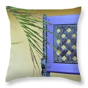 The Purple Bench Throw Pillow