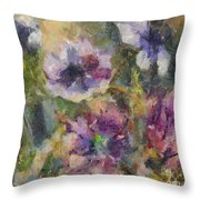 The Purple Bouquet Throw Pillow