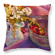 The Purple Bowl Throw Pillow