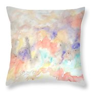 The Purple Depths Throw Pillow