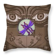 The Purple Express Throw Pillow