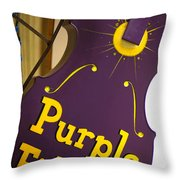 The Purple Fiddle Throw Pillow