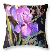 The Purple Iris Throw Pillow