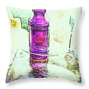 The Purple Medicine Bottle Throw Pillow