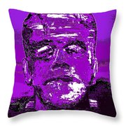 The Purple Monster Throw Pillow