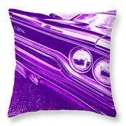 The Purple People Eater - 1970 Plymouth Gtx Throw Pillow