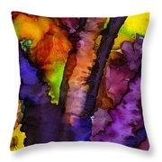 The Purple Tree Throw Pillow