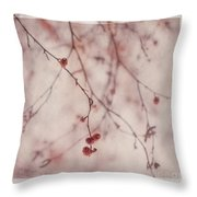 The Purr Of Autumn Throw Pillow