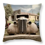 The Pusher....retired Throw Pillow