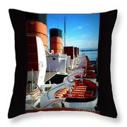 The Queen Mary  Throw Pillow