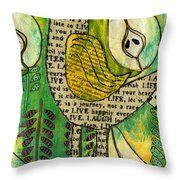 The Queen Of Pears Throw Pillow