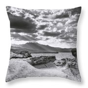 The Queen's Head Geological Park. Toned Throw Pillow