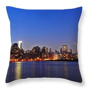 The Queens View Throw Pillow