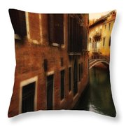 The Quiet Canal Throw Pillow
