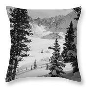 The Quiet Season Throw Pillow