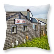 The Quintessential Lobster Experience Throw Pillow by Michelle Wiarda